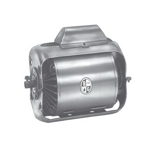 Bell & Gossett 111040 AC Motor, Open Enclosure, 1/4 hp, 115 VAC, 60 Hz, 1 ph Phase, 1725 rpm Speed, Resilient Base Mount