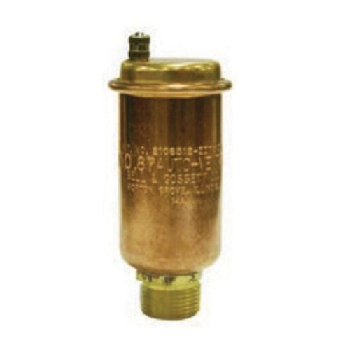 Bell & Gossett 113001 Automatic Air Vent, 1/8 in Nominal, FNPT Connection, 75 psig Working, 240 deg F, Brass