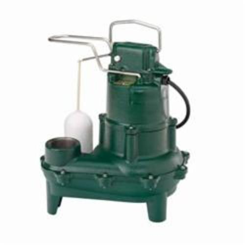 Zoeller® 264-0003 Waste-Mate 264 1-Phase 1-Seal Submersible Pump With Single Seal, 4/10 hp, 230 VAC, 2 in NPT Outlet, Cast Iron, 4.7 A