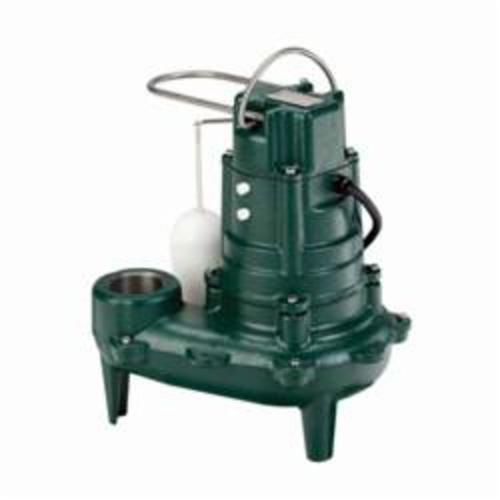 Zoeller® 267-0001 Waste-Mate 260 Submersible Pump, 1/2 hp, 115 VAC, 2 or 3 in NPT Outlet, Cast Iron, 10.4 A