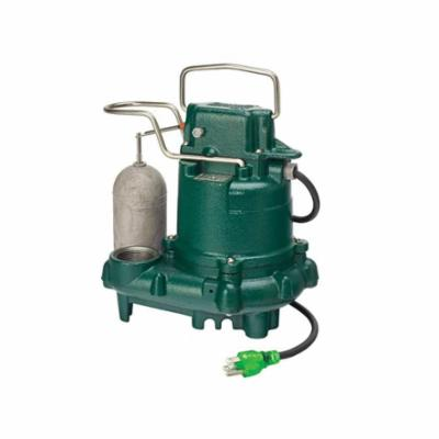 Zoeller® 63-0001 M63 Automatic Submersible Pump With (1) Seal, 43 gpm Flow Rate, 1-1/2 in NPT Outlet, 1/3 hp, Cast Iron, Domestic