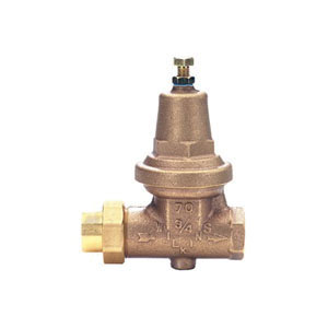 Zurn® Wilkins 34-70XL Model 70XL Single Union Water Pressure Reducing Valve, 3/4 in, FNPT, 300 psi, Cast Bronze Body
