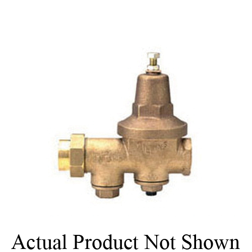 Zurn® Wilkins 34-600XL Pressure Reducing Valve With Integral By-pass Check Valve and Strainer, 3/4 in, FNPT Union x FNPT, 300 psi, Cast Bronze Body, Domestic