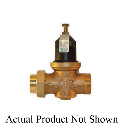 Zurn® Wilkins 114-NR3XLDUC Pressure Reducing Valve With Integral By-Pass Check Valve and Strainer, 1-1/4 in, Double Union FNPT x Female C Union, 15 to 75 psi, Cast Bronze Body