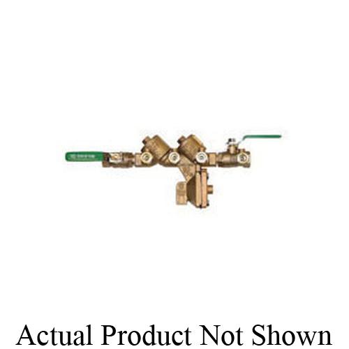 Zurn® Wilkins 12-975XL2 975XL2 Backflow Preventer, 1/2 in Nominal, FNPT End Style, Quarter-Turn Ball Valve, Bronze Body, Reduced Pressure, Domestic