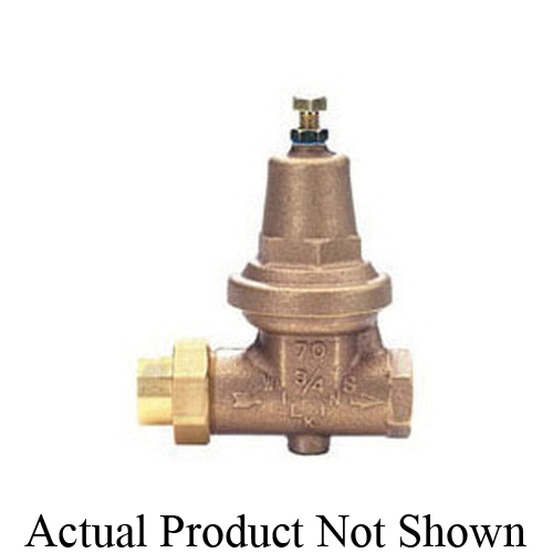 Zurn® Wilkins 1-70XLDUC Pressure Reducing Valve, 1 in, Double Union Female C, 300 psi, Cast Bronze Body