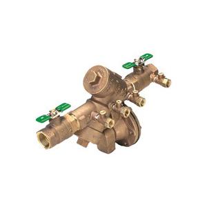 Zurn® Wilkins 975XL2 1 Y-Pattern Backflow Preventer, 1 in Nominal, NPT End Style, Quarter-Turn Ball Valve, Bronze Body, Reduced Pressure