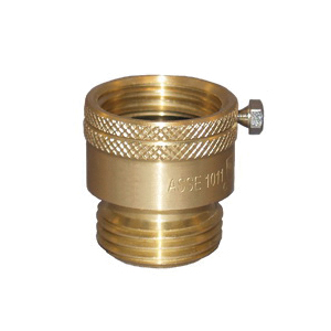 Zurn® Wilkins BFP-9 Vacuum Breaker, For Use With Service Sinks, Laundry Tubs and Hose Bibbs, 3/4 in FNH x MNH Hose, Brass