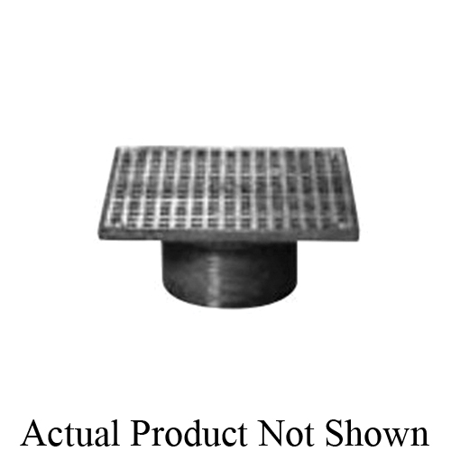 Zurn® ZN400-5S Type S Light Duty Adjustable Strainer Top, Square Pattern, 9 sq-in Open Area, 3-1/2-8 NPSM