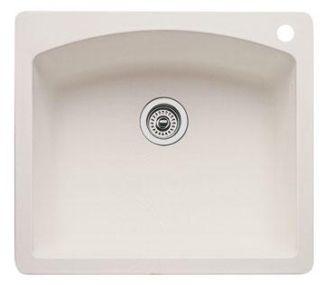 Blanco 440212 Diamond Single Bowl Drop-In Silgranit II Kitchen Sink - Biscuit
