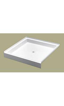 6034-1 Florestone Saflor Recess Shower Receptor - White