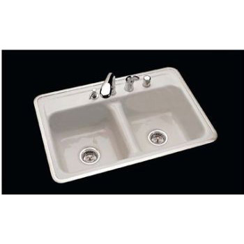 CECO Model 740-4 Hole Ledge Cast Iron Sink 32\