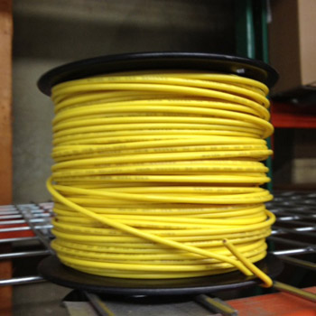 14 Gauge Tracer Yellow Wire for PE Pipe 500 foot Roll