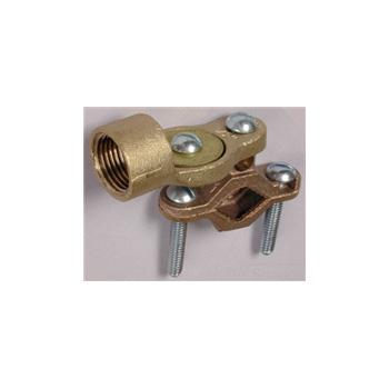 L.H. Dottie 29BRZ Ground Clamp w/Hub Solid Brass