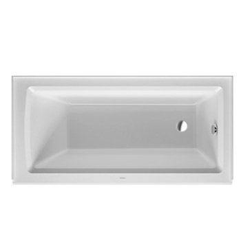 Duravit 700355000000090 Architec 60X30 Acrylic Soaking Bathtub with Right Drain, Integrated Panel Height 19-1/4 in - White