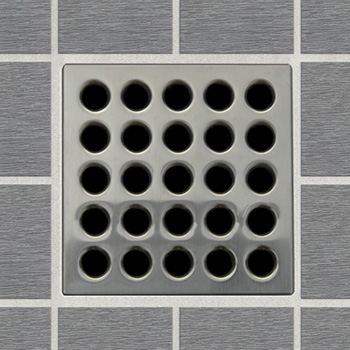 EBBE E4404 Decorative Shower Drain Cover - Brushed Nickel