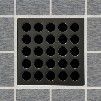 EBBE E4407 Decorative Shower Drain Cover - Oil Rubbed Bronze