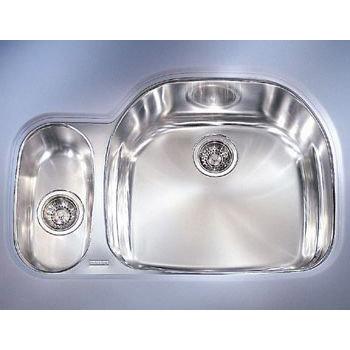 Franke PCX-160-LH Double Bowl Undermount Stainless Steel Kitchen Sink