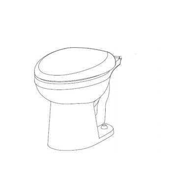Gerber MX-21-962 Maxwell Elongated Toilet Bowl - White