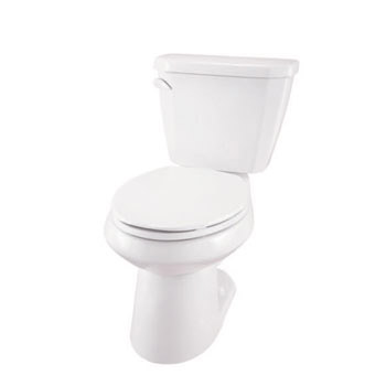 Gerber WS-21-512 Viper 1.28 gpf 12 in Rough-In Two-Piece Elongated Toilet - White