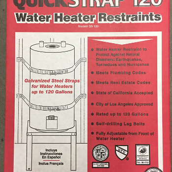 Holdrite QS-120 Quick Strap Water Heater Strap