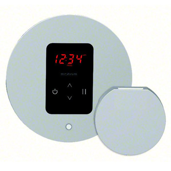 Mr. Steam MS-ITEMPO-RD-PC iTempo Control Pad with Round Cover - Polished Chrome