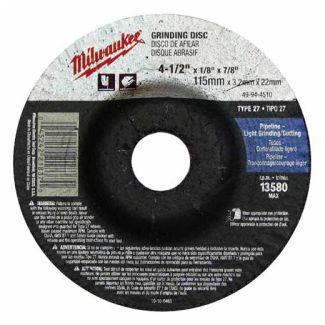Milwaukee 49-94-4520 Grinding Wheel 4-1/2 in. x 1/4 in. x 7/8 in