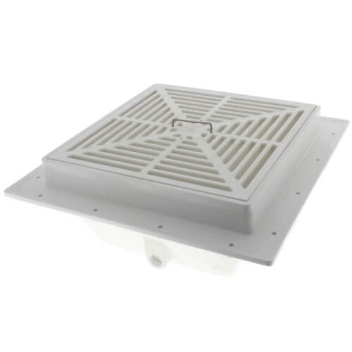 Sioux Chief 861-2P2 2 in SquareMax PVC Floor Sink w/ Full Size Strainer