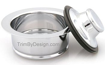 Trim By Design TBD142.17 Garbage Disposer Flange and Stopper Kit - Brushed Nickel (Pictured in Polished Chrome)
