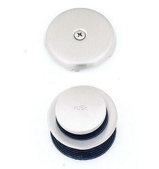 Trim By Design TBD3080.17 Tip Toe Drain Trim Kit - Brushed Nickel (Pictured in Polished Chrome)
