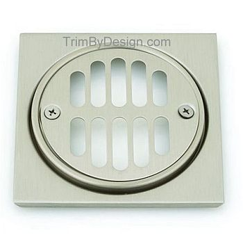 Trim By Design TBD346.17 Deluxe Drain Trim Set - Brushed Nickel (Pictured in Stainless Steel)
