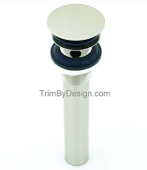 Trim By Design TBD417.26 Round Tip Toe Dome Drain Assembly with Overflow Holes - Polished Chrome