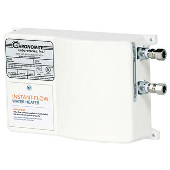 Chronomite SR-20L/277 HTR 277-Volt 20-Amp SR Series Instant-Flow Low Flow Tankless Water Heater