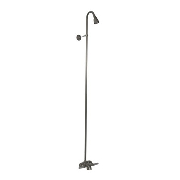 Barclay 4195-CP Diverter Bathcock with Riser and Shower Head - Polished Chrome