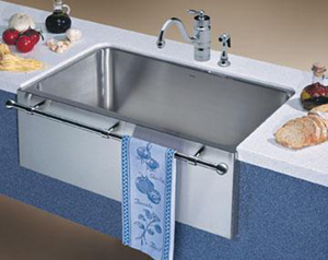 BLANCO 440294 Farmhouse Style Single Bowl Undermount Kitchen Sink - Satin Nickel (Faucet and Accessories Not Included)